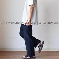 【夏の綺麗めカーゴパンツ!】STILL BY HAND スティルバイハンド  キュプラリネン イージーカーゴパンツ