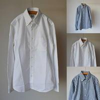 【クラシカルな面構え】WORKERS  Modified BD  ボタンダウンシャツ ホワイト/ギンガムチェック