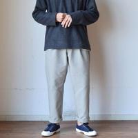 【春先取りのパンツ!】LA MOND ラモンド 2タック セミワイドトラウザー カバートグレー/スミクロ