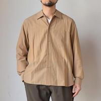 【3WAYで使える夏シャツ!】STILL BY HAND スティルバイハンド コットンキュプラ オープンカラーシャツ  ベージュ/ネイビー
