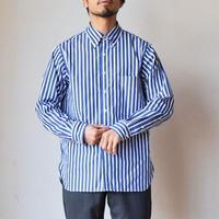 【休日に着たいBDシャツ!】A VONTADE WEEKEND SHIRT ア ボンタージ ウィークエンドシャツ ストライプ ネイビー×ホワイト