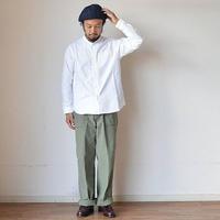 【名作シャツ復活!】nisica  ニシカ スモールスタンドシャツ ホワイト/杢グレー