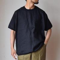 【欠品サイズご予約承り中!】Re made in tokyo japan フレンチリネン リラックスTシャツ  ブラック/ホワイト/ネイビー/ベージュ【再々生産決定!】