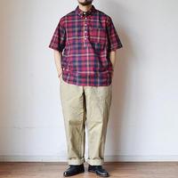 【夏に赤を差すならこれ!】EEL Products  イール プロダクツ ヒマワリシャツ レッドマドラス