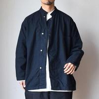 【スタンドカラーのWINTERバージョン!】MILITARY DEADSTOCK  アメリカ軍 フランネル スリーピングシャツジャケット 後染めブラック