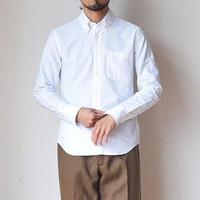 【お取り寄せ商品】Manual alphabet マニュアルアルファベット  オックスフォードボタンダウンシャツ  ホワイト