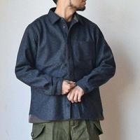 MANUAL ALPHABET WOOL SHIRTS マニュアルアルファベット ウールシャツ ブラック/グレー【尾州産ウールを贅沢に!】