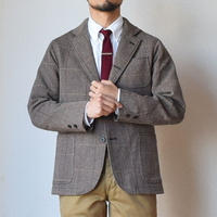 【オリジナルのツイード素材!】WORKERS   Maple Leaf Jacket ワーカーズ  段返り3つ釦 テーラードジャケット  ウィンドウペン