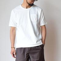 【ウンチクが詰まったTシャツ!】Re made in tokyo japan  スプリットラグラン ポケットTシャツ ホワイト/ネイビー