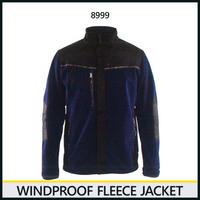 防風フリースジャケット ネイビーブルー/ブラック 8225-8999