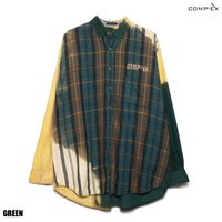 COMP®︎EX / FLANNEL RE:MAKE SHIRT / GREEN