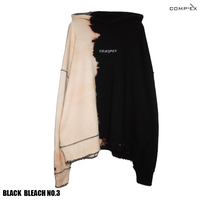 COMP®︎EX / OLD COMP®︎EX INSIDEOUT HOODIE  / BLACK _ BLEACH NO.3