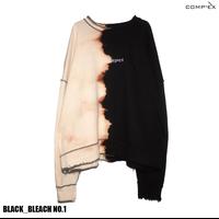 COMP®︎EX / OLD COMPREX INSIDEOUT CREW SWEAT / BLACK _ BLEACH NO.1