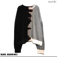 COMP®︎EX / OLD COMPREX INSIDEOUT CREW SWEAT / BLACK _ BLEACH NO.3