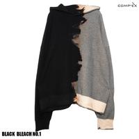 COMP®︎EX / OLD COMP®︎EX INSIDEOUT HOODIE  / BLACK _ BLEACH NO.1
