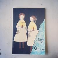 Christmas card :::  キャンドルを灯す女の子たち