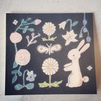 card  :::  植物とうさぎ