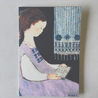 card  :::  本を読む女の子