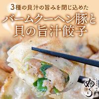 [送料込]バームクーヘン豚と貝旨汁餃子(60個入り)【ぬくり】