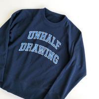 UNHALF DRAWING × 海千山千會 / SWEAT LONG SLEEVE / 立沢トオル / スウェット / ネイビー