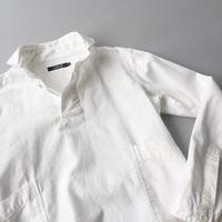 LOLO / BASIC PULL OVER SHIRTS / WHITE / ロロ / 定番プルオーバーシャツ / ホワイト
