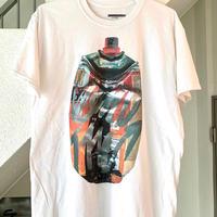RYUJI KAMIYAMA / 神山隆二 / ビッグスプレー / Tシャツ / ホワイト