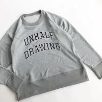UNHALF DRAWING × 海千山千會 / SWEAT LONG SLEEVE / 立沢トオル / スウェット / グレー