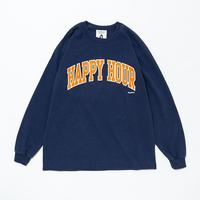 TACOMA FUJI RECORDS / HAPPY HOUR (LS) designed by Shuntaro Watanabe / タコマフジ / 渡辺俊太郎 / ネイビー