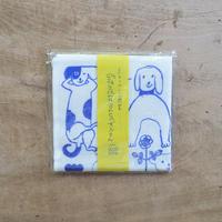 トラネコボンボン / 蚊帳生地ふきん(犬)