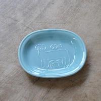 トラネコボンボン / オーバル豆皿・イヌ