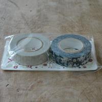 点と線模様製作所 / リスの森+小さな花 マスキングテープ2種セット D