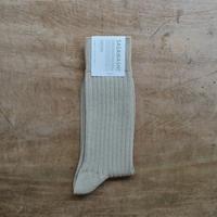 ささ和紙 メンズ リブ靴下(24-26cm)