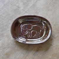 トラネコボンボン / オーバル豆皿・ゾウ