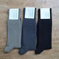 ささ和紙 メンズ リブ靴下・Lサイズ(26-28cm)