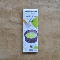 People Tree / フェアトレードチョコレート・抹茶ホワイト ライスキノアパフ