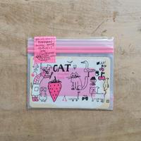 トラネコボンボン / フリーザーバッグ(S)いちご猫