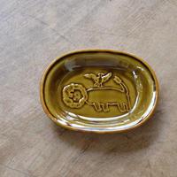 トラネコボンボン / オーバル豆皿・ライオン