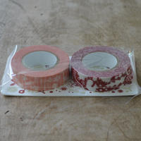 点と線模様製作所 / リスの森+小さな花 マスキングテープ2種セット F