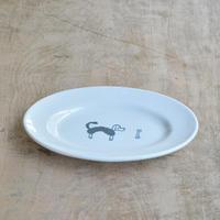 トラネコボンボン / 犬の楕円皿(大)