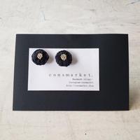 earrings 刺繍 ブラック