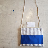 nanamegake bag. stripe blue.