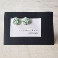 earrings  モスgreen  dot