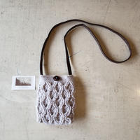 knit  bag     graybeige.