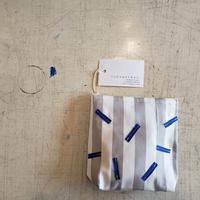 stripe blue pouch