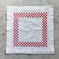 Embroidered square place mat