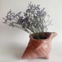 VTG Shell shaped flower vase