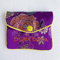 DONADONA printed oriental jqd pouch / Purple