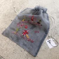 Vietnamese Embroidered drawstring bag