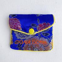 DONADONA printed oriental jqd pouch / Blue