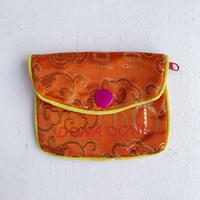 DONADONA printed oriental jqd pouch / Orange